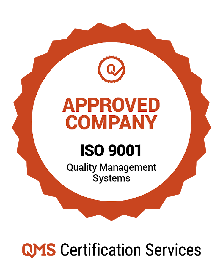 Empresa certificada ISO 9001 - Approved Company ISO 9001 Quality Management Systems